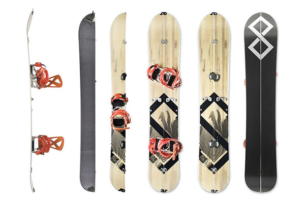 splitsticks splitboarding system ski snowboard