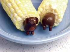 Dachshund corn holders
