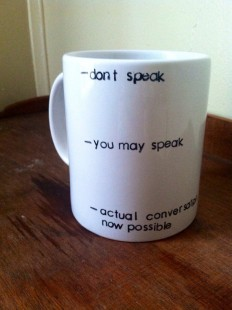 dont speak coffee mug
