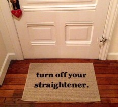 turn off straightener door mat