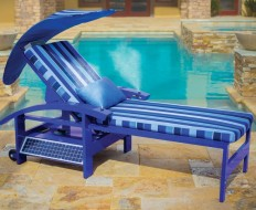 solar powered lounger
