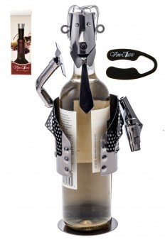 business man wine holder