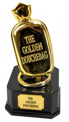 golden douchebag trophy