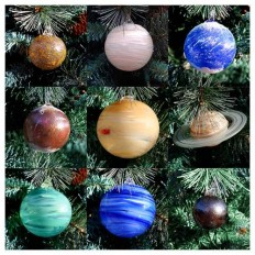 solar system ornament set